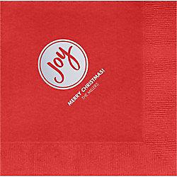 Joy Circle Custom Lunch Napkins