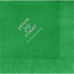 Peace Joy Cheer Custom Lunch Napkins