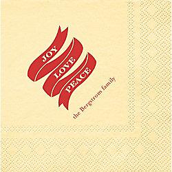 Joy Love Peace Banner Custom Cocktail Napkins