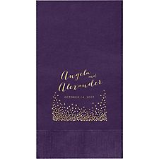 Champagne Custom Guest Napkins