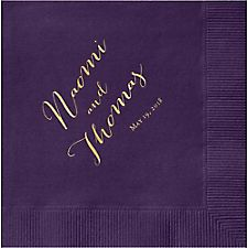 Hand Script Custom Cocktail Napkins
