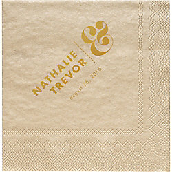 Horizontal Ampersand Custom Cocktail Napkins