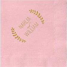 Laurel Branches 2 Custom Cocktail Napkins