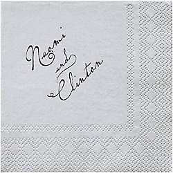 Pearl Border 2 Custom Cocktail Napkins