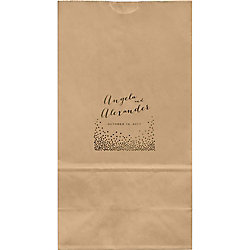 Champagne Large Custom Favor Bags