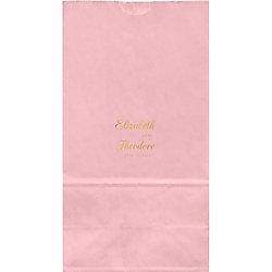 Elegant Script Large Custom Favor Bags