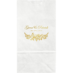 Floral Border Small Custom Favor Bags