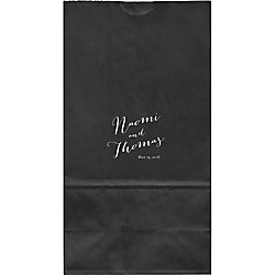Hand Script Large Custom Favor Bags
