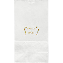 Laurel Branches Large Custom Favor Bags
