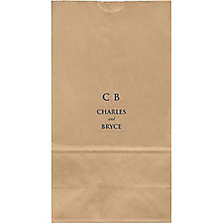 Line Monogram Large Custom Favor Bags