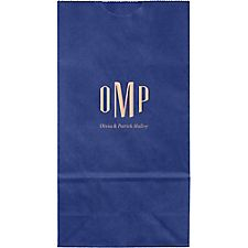 Monogram Border Small Custom Favor Bags