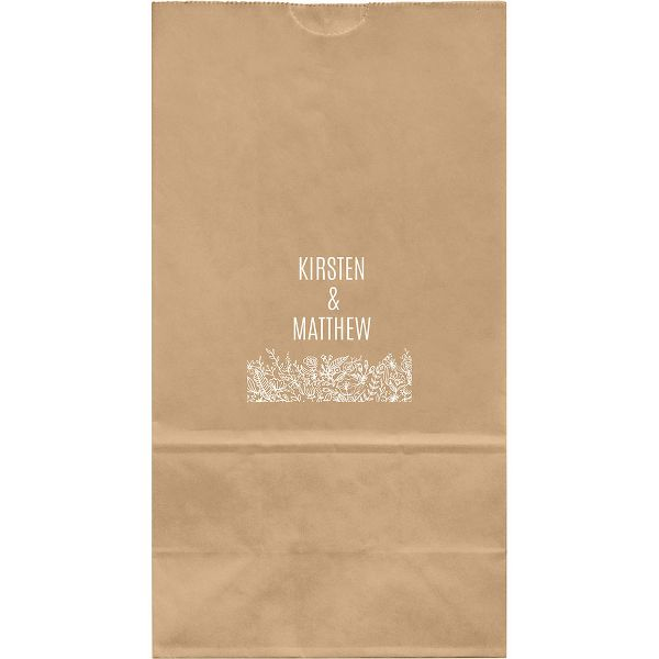 Wedding Flowers Large Custom Favor Bags