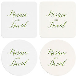 Watercolor Garden Custom Coasters