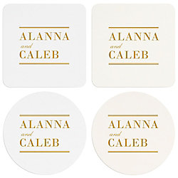 Pinstripe Border Custom Coasters