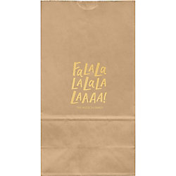 Fa La La Large Custom Favor Bags