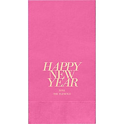 Happy New Year 2017 Custom Guest Napkins - Set of 50