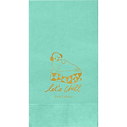 Let's Chill Custom Guest Napkins