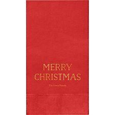 Merry Christmas 2016 Custom Guest Napkins