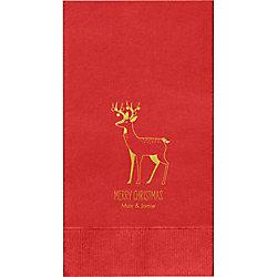 Reindeer Custom Guest Napkins