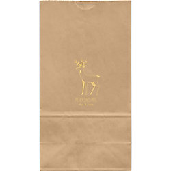 Reindeer Large Custom Favor Bags