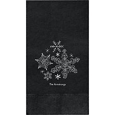 Snowflakes Custom Guest Napkins