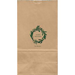 Wreath Large Custom Favor Bags