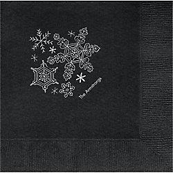 Snowflakes Custom Lunch Napkins