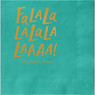 Fa La La Custom Cocktail Napkins