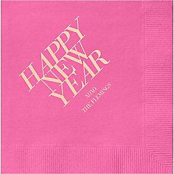 Happy New Year 2017 Custom Cocktail Napkins