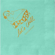 Let's Chill Custom Cocktail Napkins