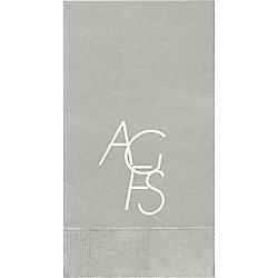 Modern Monogram Custom Guest Napkins