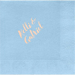 Hand Brush Custom Lunch Napkins