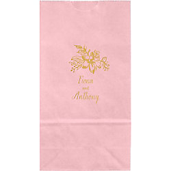 Golden Blooms Small Custom Favor Bags