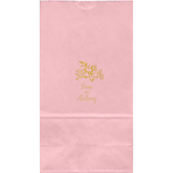Golden Blooms Large Custom Favor Bags