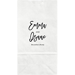 Modern Calligraphy Small Custom Favor Bags