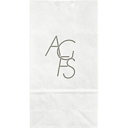 Modern Monogram Small Custom Favor Bags