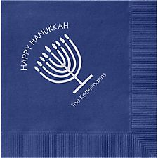 Menorah Custom Cocktail Napkins