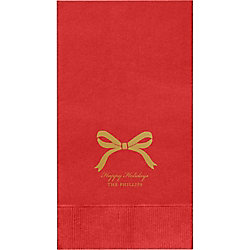 Bow Custom Guest Napkins