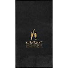 Champagne Glasses Custom Guest Napkins