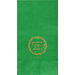 PJC Wreath Custom Guest Napkins