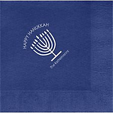 Menorah Custom Lunch Napkins