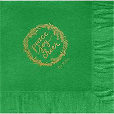 PJC Wreath Custom Lunch Napkins