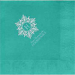 Snowflake Monogram Custom Lunch Napkins