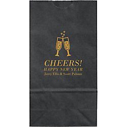 Champagne Glasses Small Custom Favor Bags