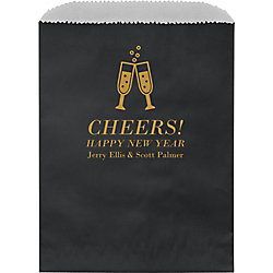 Champagne Glasses Custom Wax Lined Bags