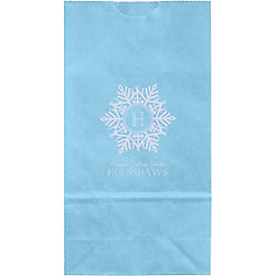 Snowflake Monogram Small Custom Favor Bags