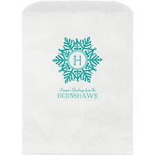 Snowflake Monogram Custom Wax Lined Bags