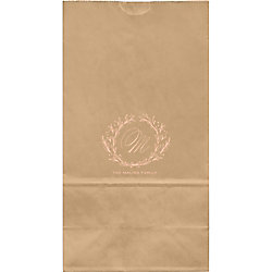 Wreath Monogram Large Custom Favor Bags