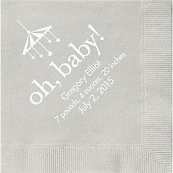 Oh Baby Custom Cocktail Napkins