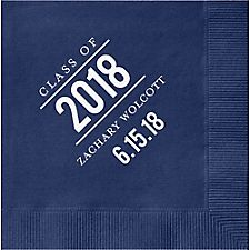 Graduation Bulletin Custom Cocktail Napkins
